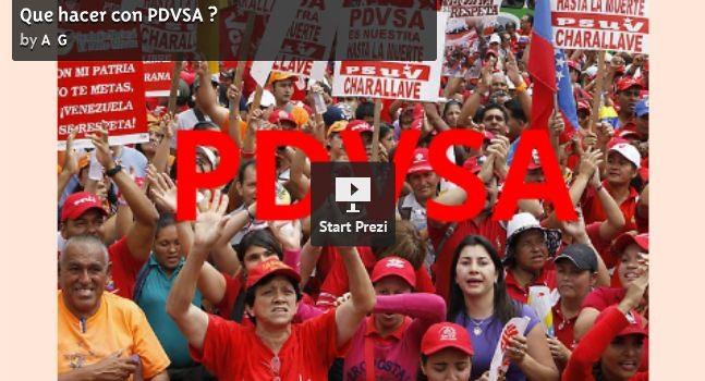 ¿Que hacer con PDVSA?